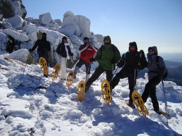 snow-shoeing